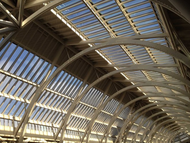 glass roof of museum of scotland