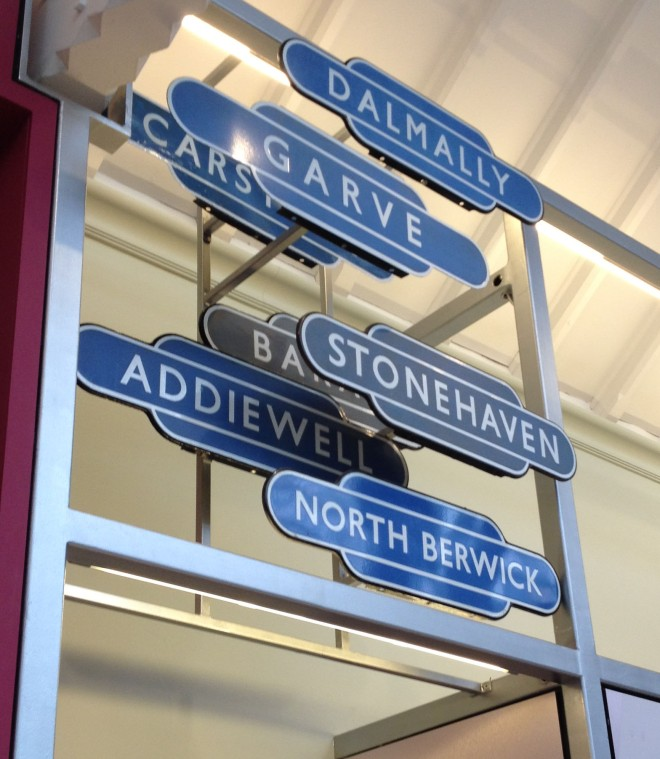 old railway station signs