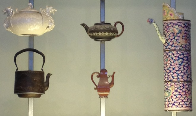 teapots in museum of Scotland