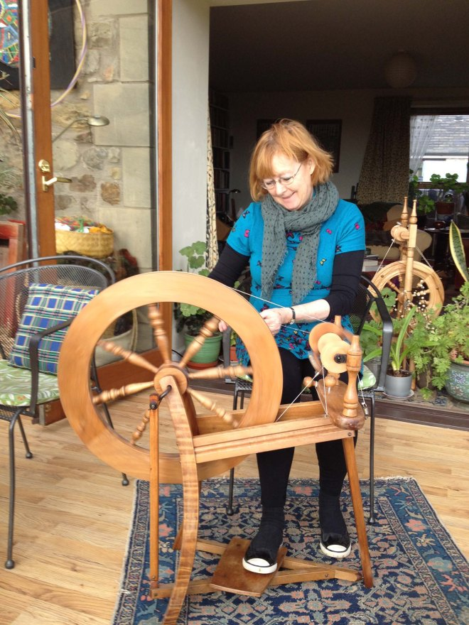 K spinning on Ashford wheel2