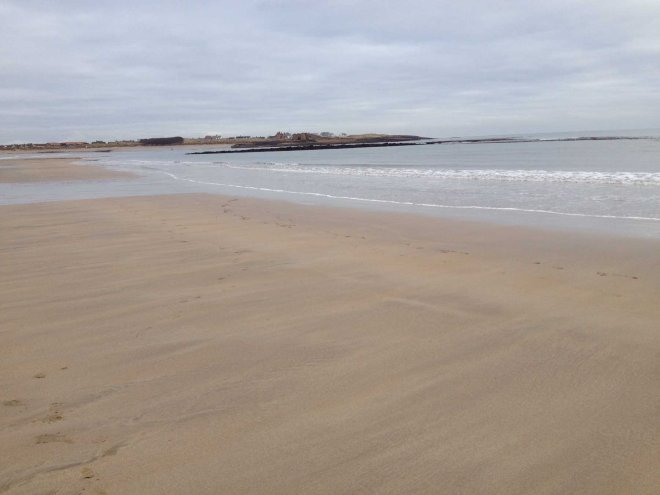 Looking back to Beadnell