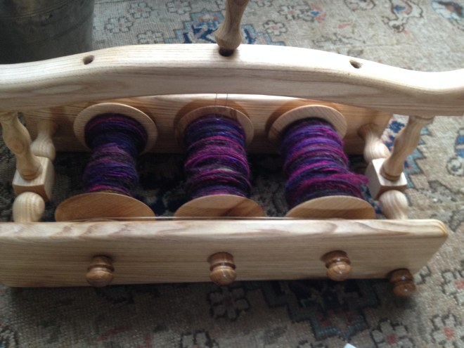 new wool winder for plying