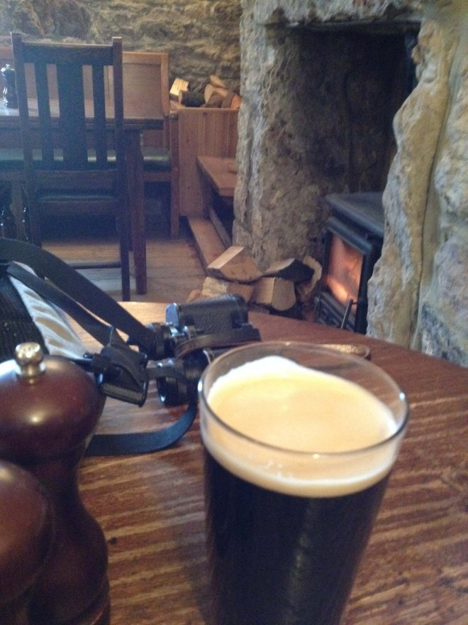 Pub - pint and fire