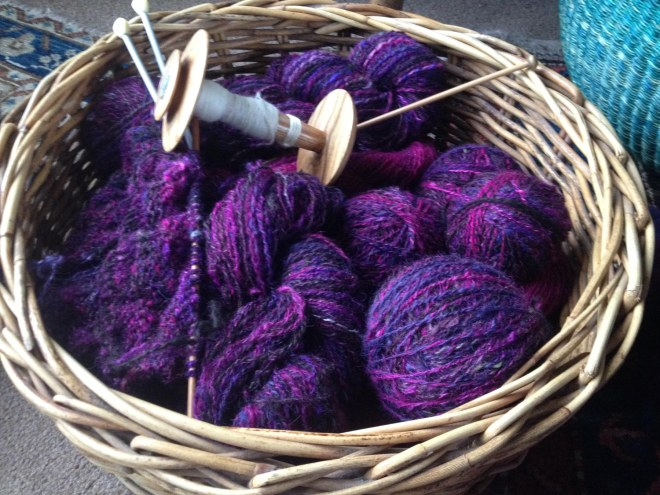 purple pink yarn