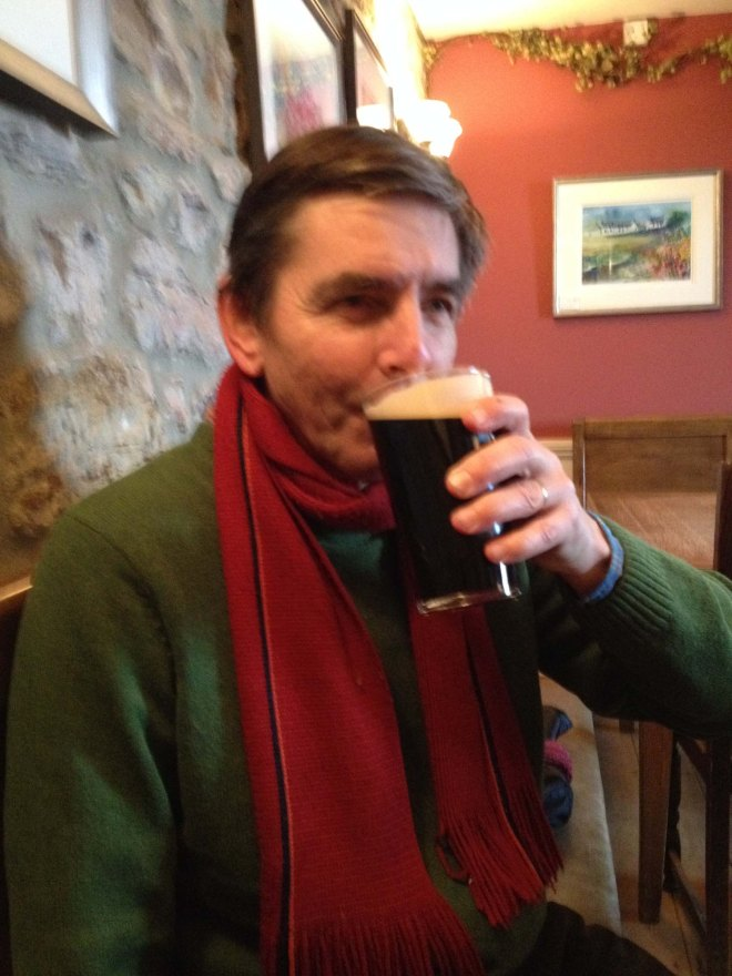 Stephen with pint