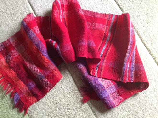 Aunty Jilly's woven scarf