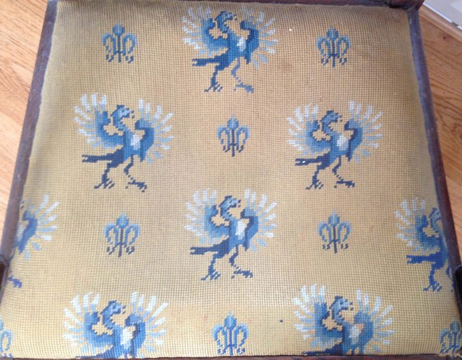 Gampy's embroidered  chair seat
