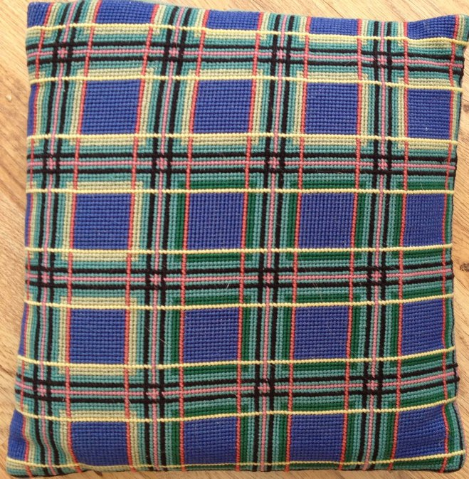 Lorna's embroidered cushion