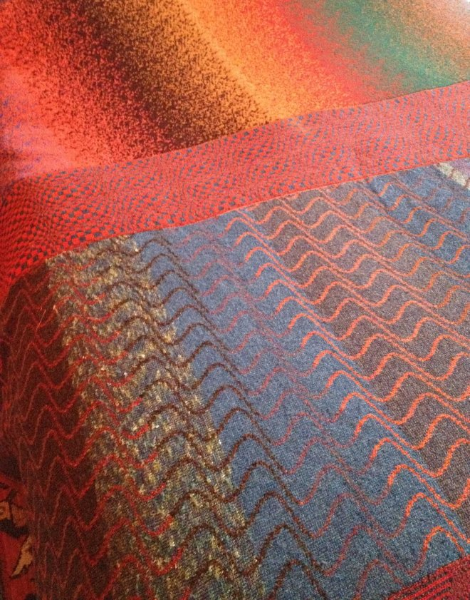 Stephen's machine-knitted blanket
