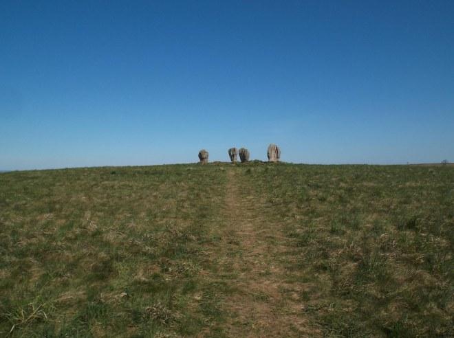 walk up to Duddo stones