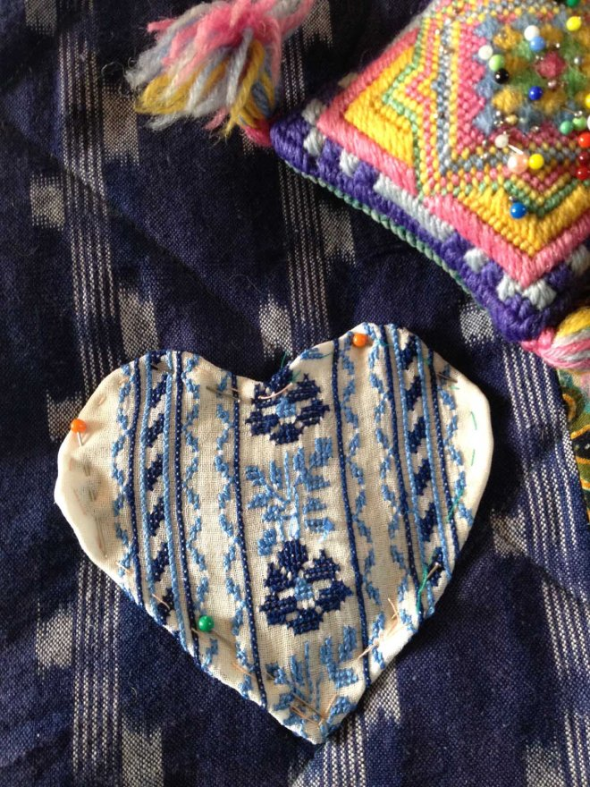 Yugoslavia embroidery heart