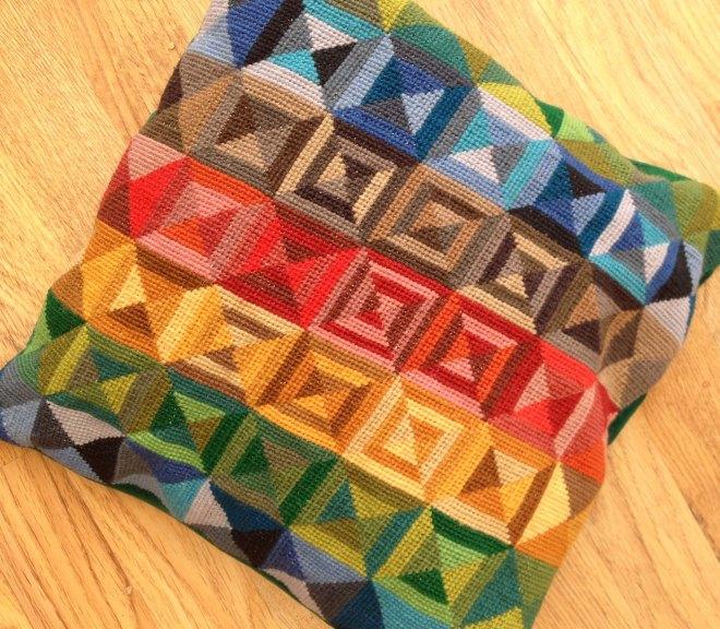Zacyntha's embroidered cushion