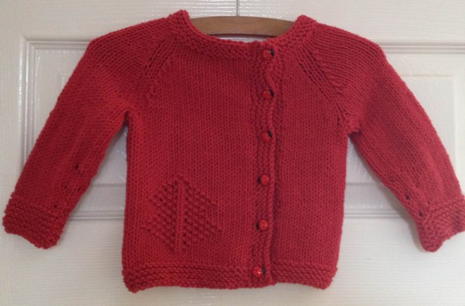 finished cardi for Maud