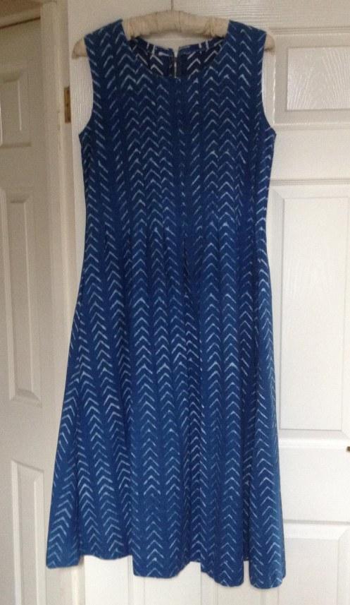long version of K's Habitat fabric dress