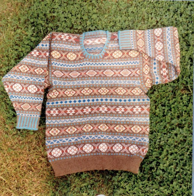 Machine knitted Shetland jersey (Pete)