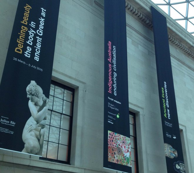 British Museum exhibition banners
