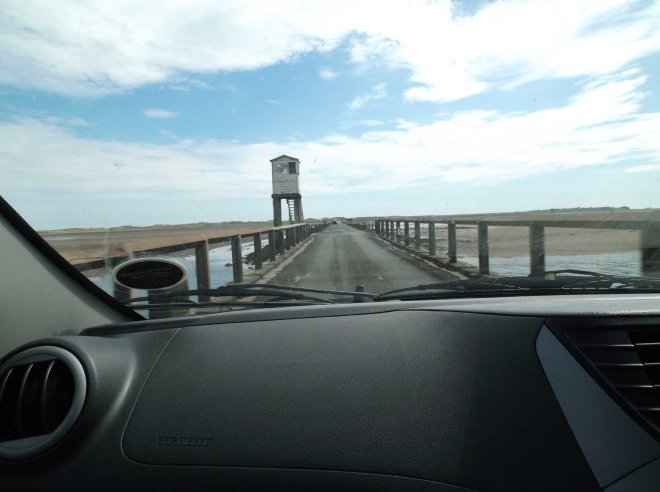 crossing the causeway