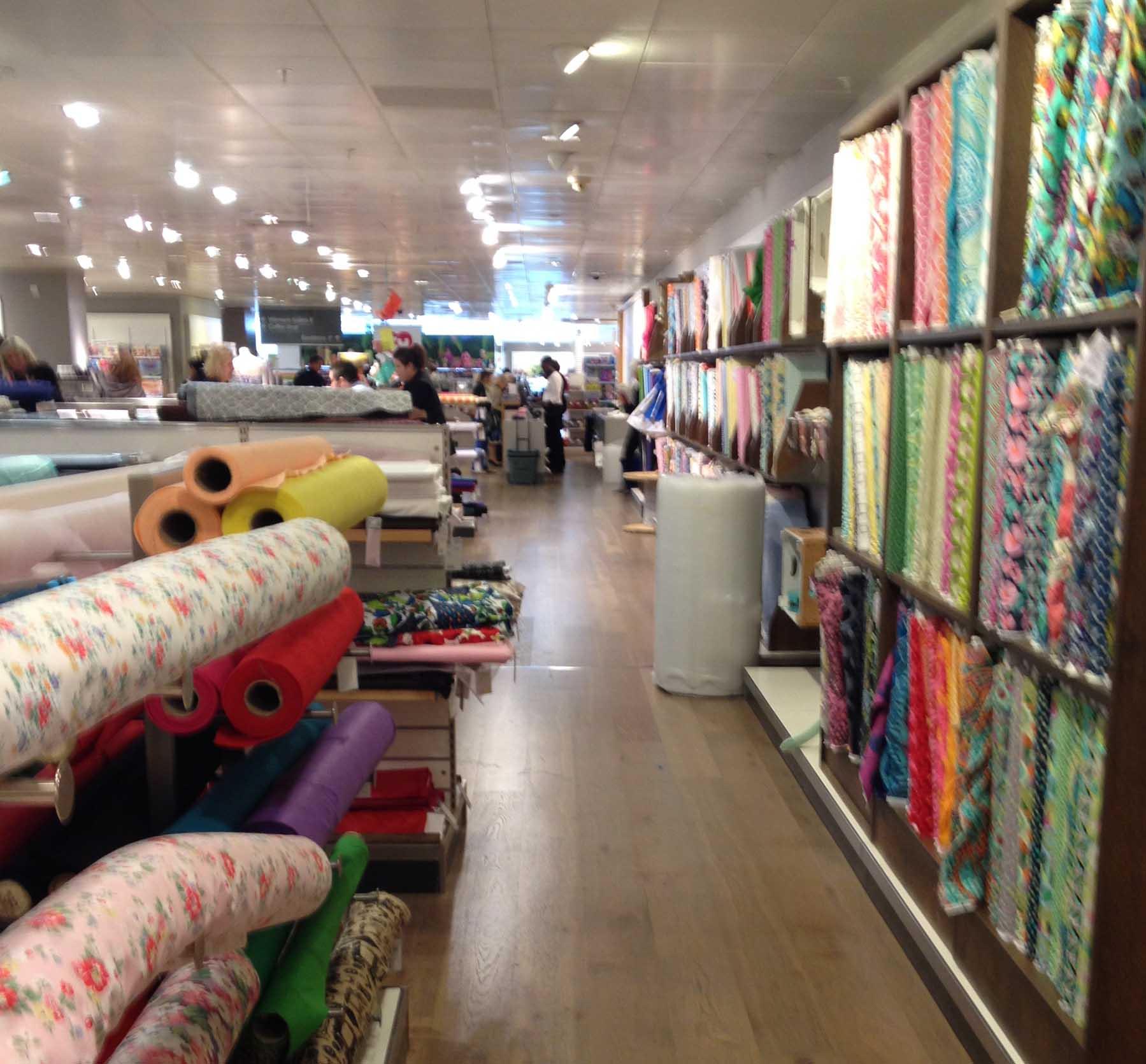Fabric department in John Lewis