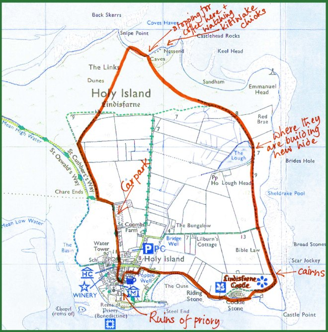 Holy Island map