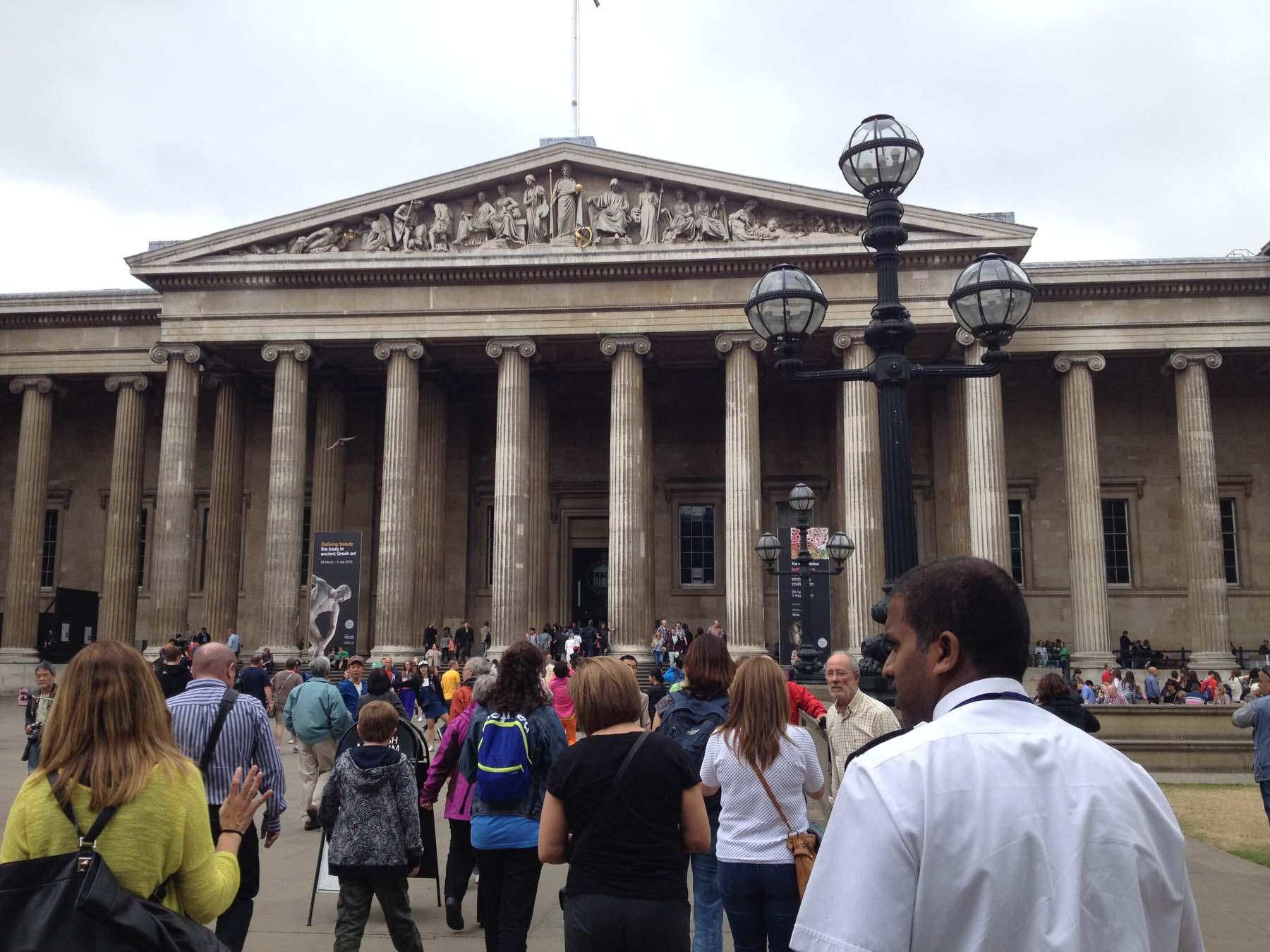 imposing exterior of British Museum
