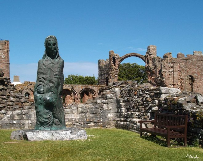 St Cuthbert amid ruins