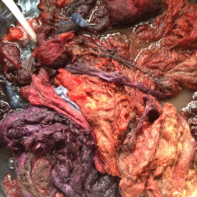 body part fleece dyeing