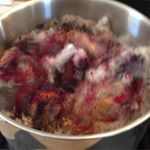 stainless steel bowl of dyeing fleece