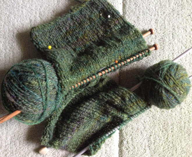 test knitting samples
