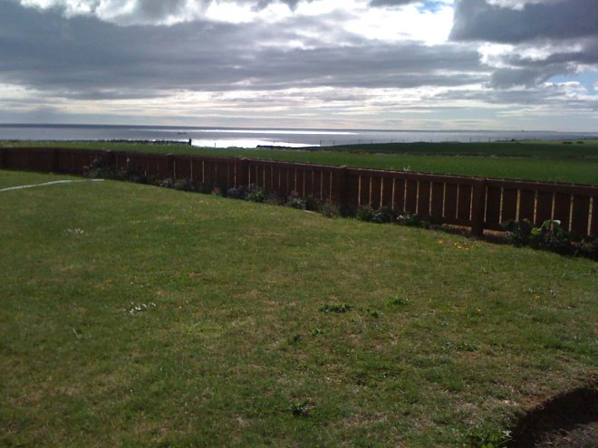 view out of garden to sea