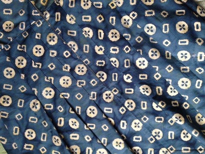 Pleats in back of dress