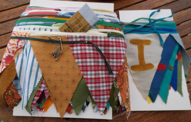 Carded bunting ready for post