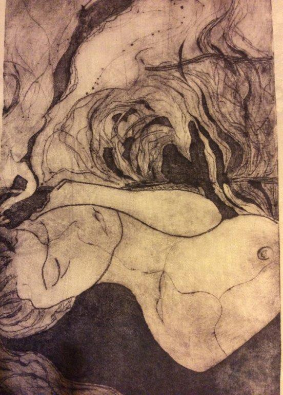Drypoint image GiveWrap G8