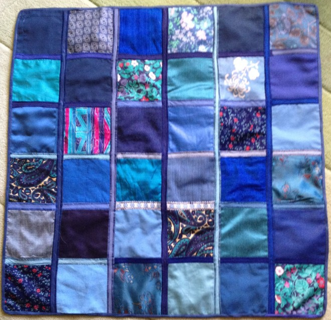 Re-using Mary's patchwork GiveWrap