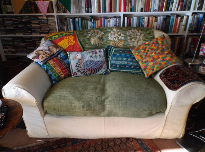 completed cushion in new home