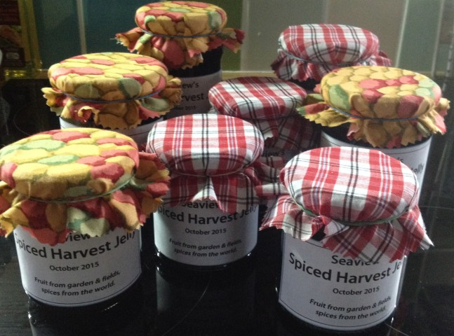 Spiced Harvest Jelly jars