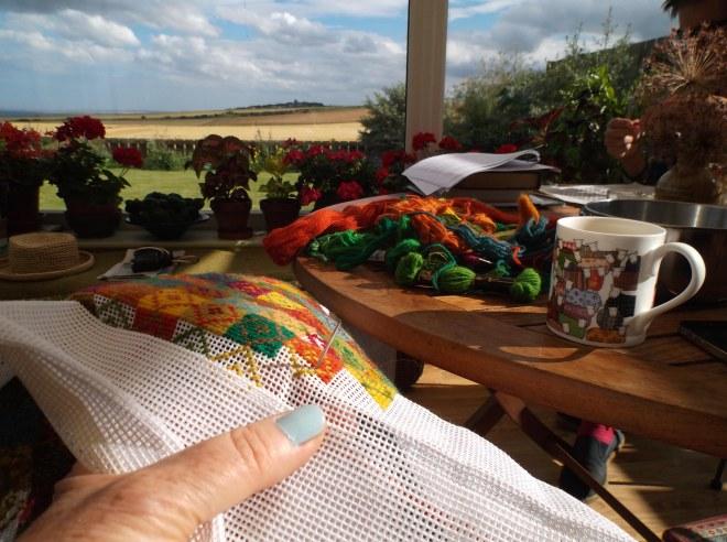 stitching away on summer days
