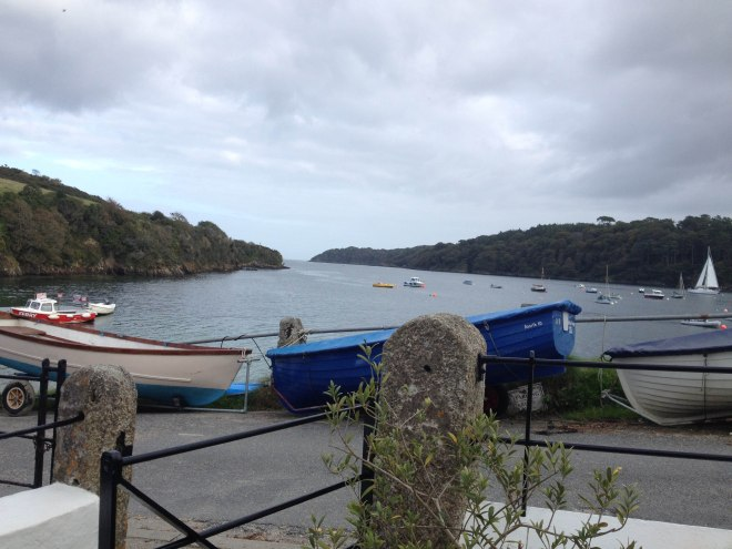 View from our cottage to Helford River