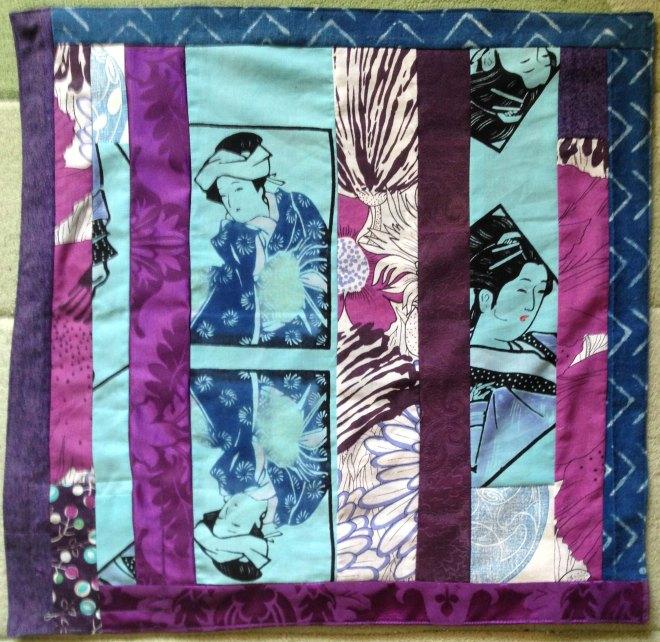 yukata ladies with purple givewrap