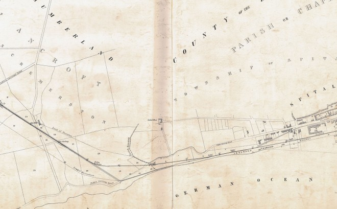 1844 Spittal & Tweedmouth Tramroad plan