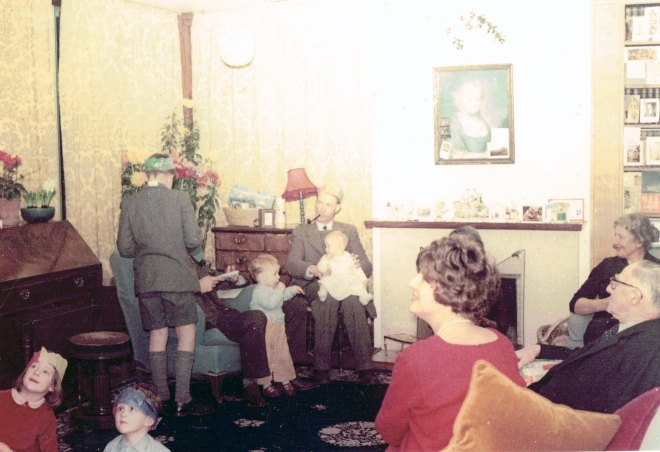 Christmas Paddock 1961 - sitting in drawing room