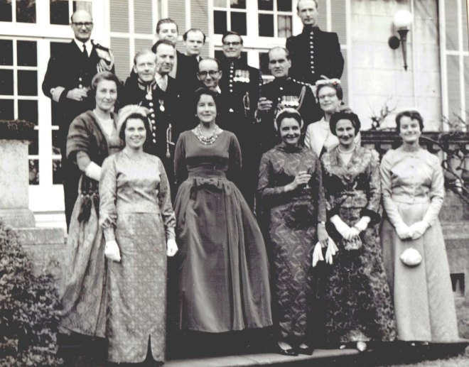 Imperial Court New Year party 1964 Tokyo Embassy