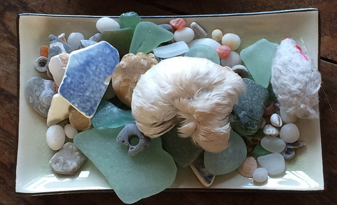 oblong tray of treasures