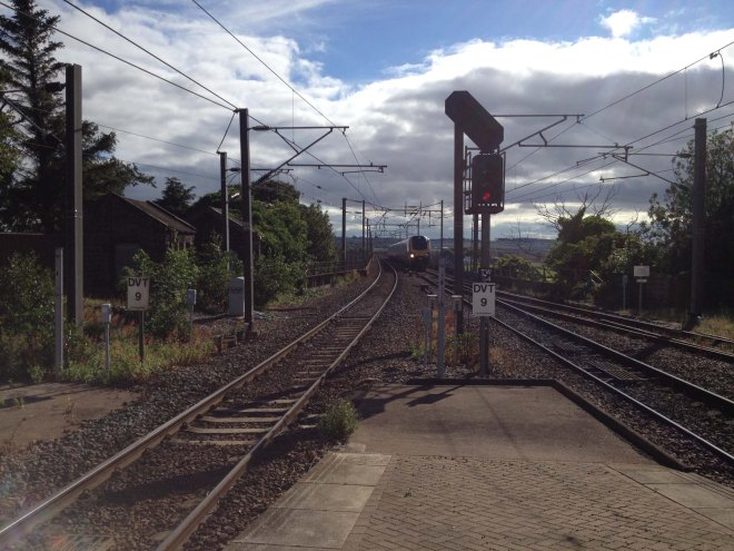 waiting for train at Berwick station2