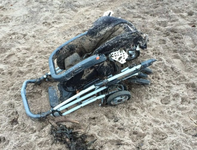 washed up push chair