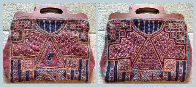 Both sides of Ebay embroidered bag