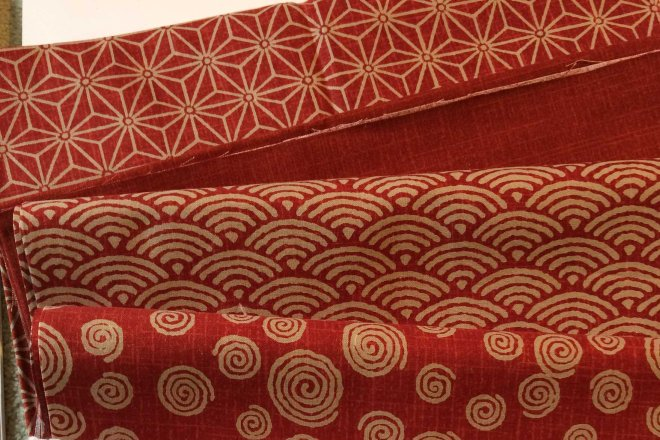 Christmas fabrics from Helen