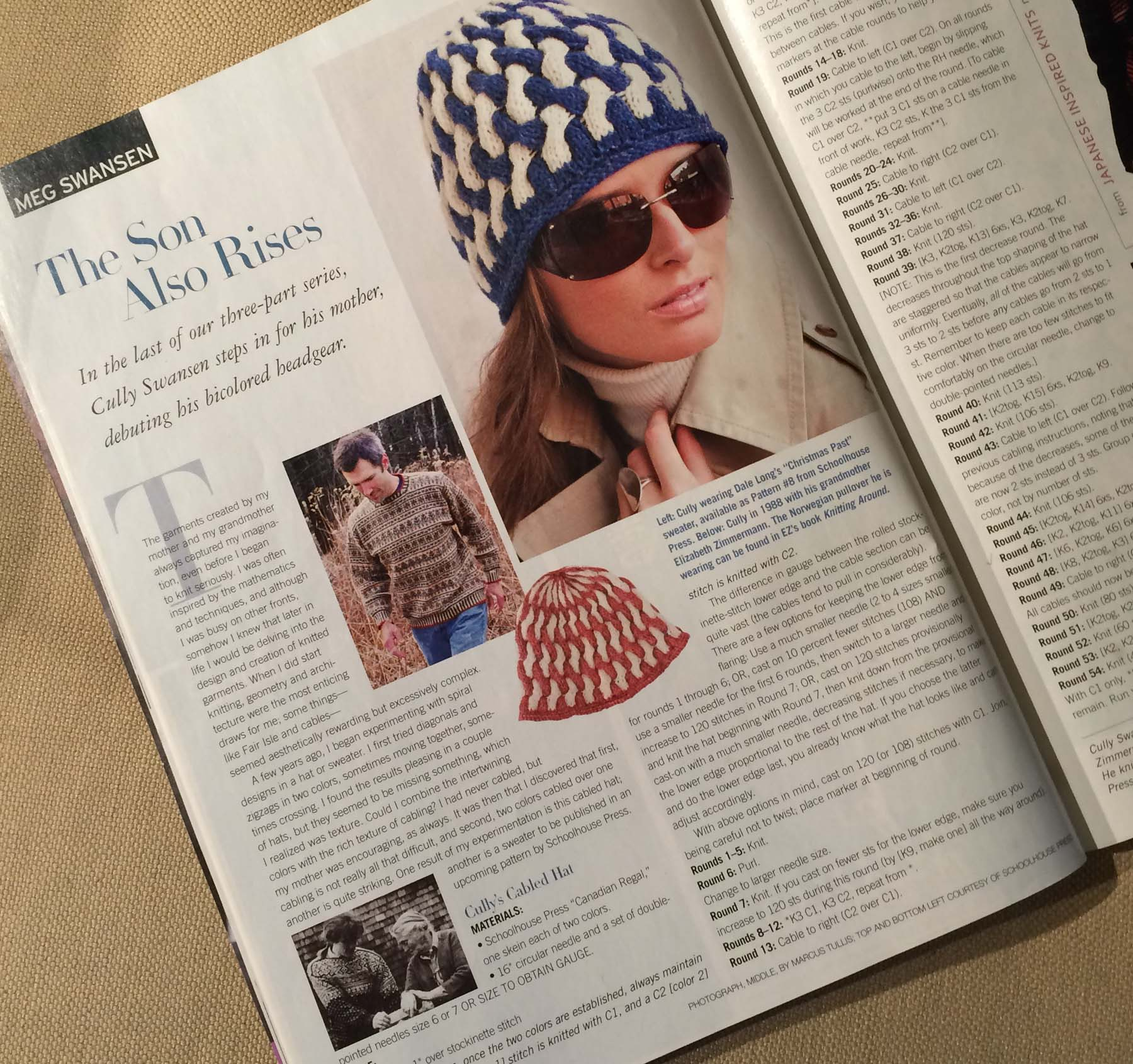 Cully Swansen's hat pattern