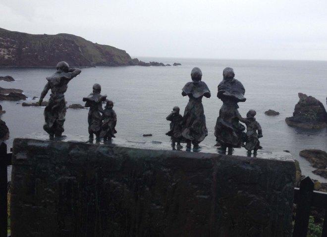 St Abbs statues