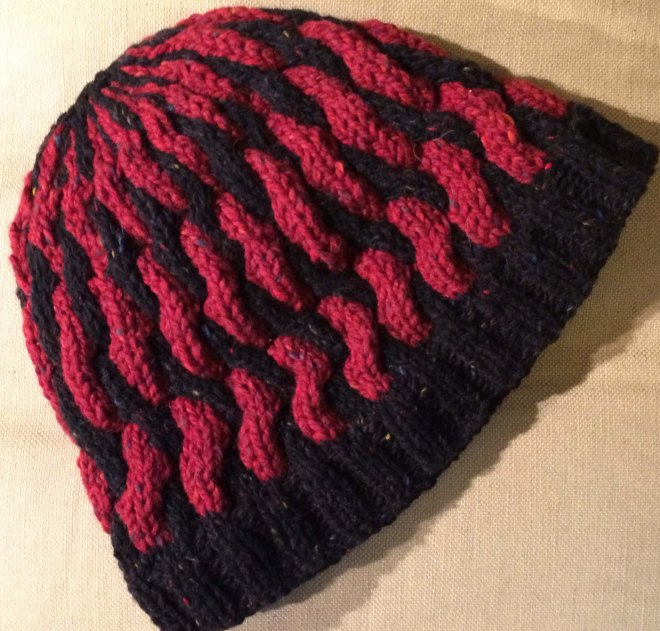 Stephen's cabled beanie