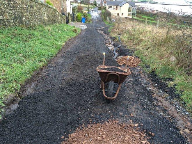 more gravel burying pipe